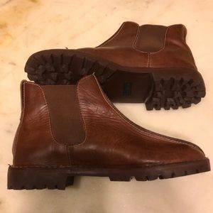 Cole Haan Conway Chelsea brown leather ankle boots
